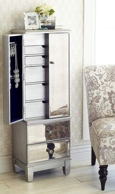 Mom will feel like a star with the glamorous Hayworth Jewelry Armoire