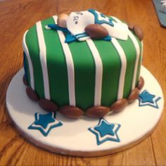 Football themed baby shower cake- could totally make this (Texans themed instead of the Cowgirls obviously)