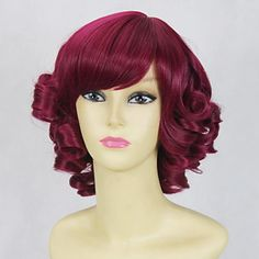 Gothic Rose Curly Bob 35cm Lolita Cosplay Wig is supple and easy to care.It could bear the high temperature for 180 degree.It incorporates inner cap with high quality.