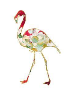 patterned flamingo