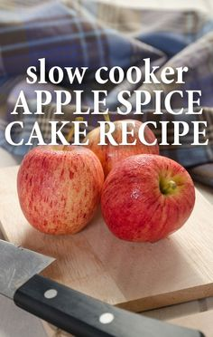 Chef Carla Hall whipped up an absolutely mouth-watering Slow Cooker Apple Spice Cake recipe on The Chew, with the help of chef Mario Batali. Slow Cooker Apples, Crock Pot Slow Cooker, Crock Pot Cooking, Slow Cooker Recipes, Crockpot Recipes, Crock Pot Desserts, Delicious Desserts, Yummy Food, Spice Cake Recipes