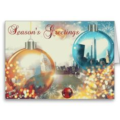 just sold 150!!! Chicago Season's Greetings Baubles Christmas Greeting Cards! thanks so much