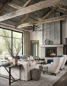 Bauernhaus Wohnzimmer Modern farmhouse living room decor Roomba Vac: Fast And Easy Household Cleanin Modern Farmhouse Living Room Decor, Home Living Room, Interior Design Living Room, Living Room Designs, Farmhouse Decor, Modern Room, Country Living, Modern Rustic Interiors, Modern Rustic Homes