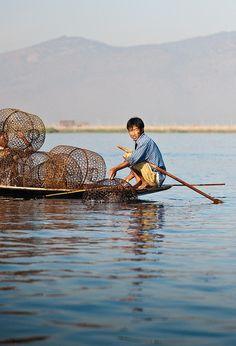 Fishing, Lake Inle, Myanmar