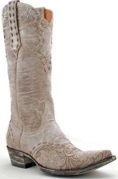 Womens Old Gringo Erin Boots Bone #L640-3 via @allen sutton Boots