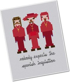 Pixel People - The Spanish Inquisition - PDF Cross-stitch Pattern