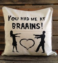 Romantic Zombie Pillow! Must have in our house.
