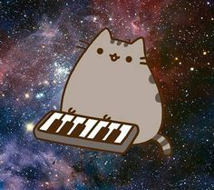 Download Pusheen Space Synth wallpapers to your cell phone - cat ...