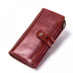 Long and Spacious Genuine Leather Clutch Wallet for Women - Gallery of  Trends b94115a3a7a2