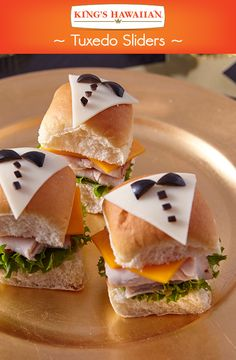 Best dressed slider this awards season goes to the Tuxedo Rolls.  Perfect for New Year's Eve or an Academy Awards Party!