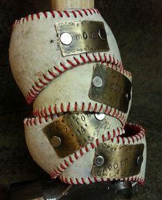 baseball bracelets. made from old baseballs