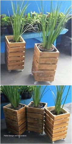 Rustic and lots artistically, this pallet planter design is what bringing you ou. - Rustic and lots artistically, this pallet planter design is what bringing you out to make it part of -