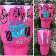 Vinyl Tumblers, Personalized Tumblers, Custom Tumblers, Glitter Cups, Glitter Tumblers, Diy Gifts To Sell, Custom Cups, Painted Mugs, Yeti Cup