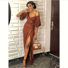 Latest Aso Ebi Lace Styles Unique And Beautiful Aso Ebi Styles collection vol 11 Aso Ebi Lace Styles, African Lace Styles, Latest Aso Ebi Styles, Lace Dress Styles, African Lace Dresses, Latest African Fashion Dresses, African Outfits, Aso Ebi Dresses, Nigerian Dress Styles