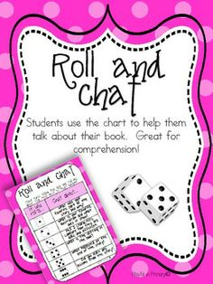 Fcould be used at a party with different topics for the numbers. Roll and Chat: Reading Comprehension Dice Game Reading Response, Reading Intervention, Guided Reading, Teaching Reading, Reading Comprehension, Learning, Reading Stations, Reading Centers, Reading Workshop