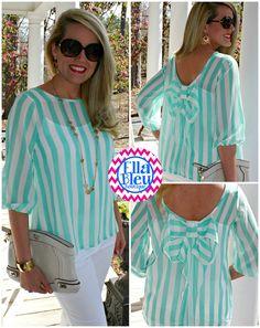 2013 Spring MUST HAVE blouse at Ella Bleu Boutique on Facebook! www.Facebook.com/EllaBleuBoutique
