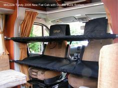 Cab Bunks |Top-one only, Carried beneath roof rack as secondary sleeping arrangements when it is too wet, windy for RTT|