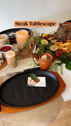 New Cooking, Cooking Recipes, Party Food Platters, Tablescapes, Steak, Yummy Food, Meals, Table Decorations, Meal Ideas