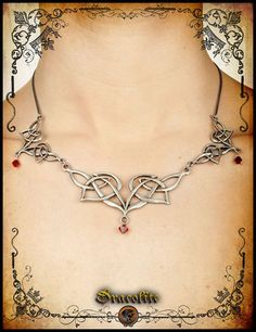 Elven necklace  handmade elf necklace with swarovski by Dracolite
