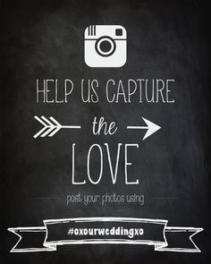 Free Instagram Wedding Printables Insert Your Hashtag And They - Free wedding sign templates
