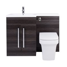 Bathroom Vanity Unit Designer Furniture Suite Back to Wall WC Toilet, Basin Sink Basin Vanity Unit, Basin Unit, Bathroom Vanity Units, Bathroom Furniture, Back To Wall Toilets, Furniture Design, Sink, The Unit, Contemporary