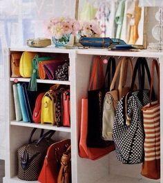 Storing purses - let's organize