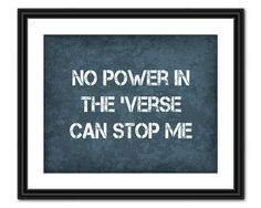 Firefly Quote Art - No Power in the 'Verse - 8x10 - Instant Download