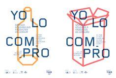 Gráfica de la exposición YO LO COMPRO organizada por la ADCV, Asociación de Diseñadores de la Comunidad Valenciana en la Valencia Disseny Week. Vídeo por Estudi Cercle.