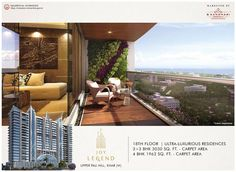 Joy Legend  Upper Pali Hill, Khar (W)  -Ultra Luxurious Residences -3 + 3 BHK - 3030 Sq.Ft Carpet area -4 BHK - 1962 Sq.Ft Carpet area  #BKandhariproperties #JoyLegend #Upperpali #KharWest #Residential #LuxuryHomes #PremiumProperty #Mumbai Mumbai, Property For Sale, Luxury Homes, Carpet, Flooring, Outdoor Decor, 18th, Home Decor, Luxurious Homes