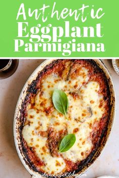 Eggplant Parmigiana - - Parmigiana di Melanzane is the ultimate comfort food recipe. Fried aubergines/eggplant baked in a dish with tomato sauce, basil, parmesan and mozzarella cheese. Italian Dinner Recipes, Italian Dishes, Italian Foods, Veggie Italian Recipes, Authentic Italian Recipes, Veg Dinner Recipes, Italian Cooking, Veggie Dishes, Vegetable Recipes