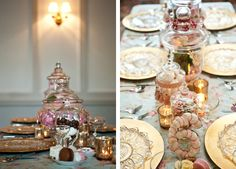 lace and frills - a vintage candy spread