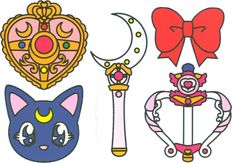 'sailor scouts {accesories}' Sticker by missmooss Sailor Moon Tattoos, Sailor Moons, Sailor Moon Crystal, Sailor Moon Tumblr, Sailor Saturn, Sailor Moon Party, Sailor Moon Birthday, Arte Sailor Moon, Sailor Scouts