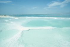 The Dead Sea, Israel. I want to swim in there!