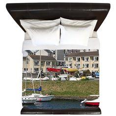 Boats, Aberystwyth, Wales King Duvet on CafePress.com
