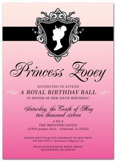 Royal ball invitation sample of inside 2013 creations royal ball kids birthday party invitation stopboris Choice Image