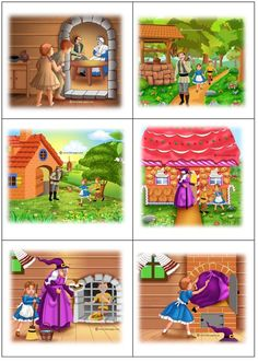 Sequencing Pictures, Sequencing Cards, Story Sequencing, Kindergarten Writing Activities, Kids Math Worksheets, Sequencing Activities, Hansel Y Gretel Cuento, Picture Story For Kids, Fairy Tale Activities