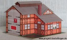PAPERMAU: German Architectural Paper Models In 1/72 Scale For Train Sets Dioramas, RPG And Wargames - by Projekt Bastelbogen