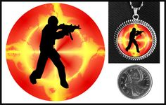 Counter Strike glass necklace on Etsy for $10.