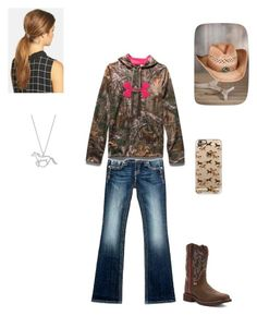 Down on the Farm by rfaber on Polyvore featuring Under Armour, Miss Me, Justin Boots, Ficcare, Overland Sheepskin Co. and Casetify