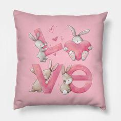 Bunny Love - Bunny Love - Pillow | TeePublic