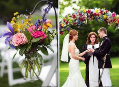 Altar Flowers and Ceremony Design by Cedarwood Weddings | Historic Cedarwood | All Inclusive Designer Weddings