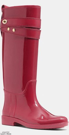 Trending Fall 2015 & Spring 2016 - Colorful Rainboots (image features Coach Talia Rain Boot)