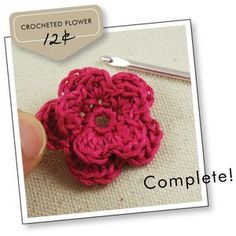 how to crochet a flower...