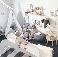 Is this a perfect play space or what! Is this a perfect play space or what! Baby Bedroom, Baby Boy Rooms, Baby Room Decor, Nursery Room, Girls Bedroom, Child's Room, Kid Bedrooms, Room Baby, Ideas Habitaciones
