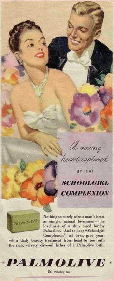 Vintage add for Palmolive soap