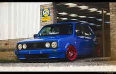 Volkswagen GTI Volkswagen Golf Mk2, Vw Mk1, Man Cave Garage, Golf 1, Ps, Automobile, German, Trucks, Blue