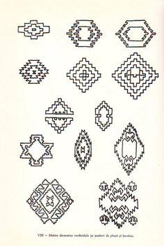 SIMBOLURI ARHAICE ROMANESTI [ III ] | un altfel de jurnal Romanian Lace, Beaded Embroidery, Tatoos, Folk Art, Diy And Crafts, Projects To Try, Cross Stitch, Doodles, Carpet