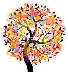 Colorful tree vector 959238 - by ilyaka on VectorStock®