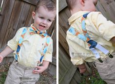 15  BOY Clothing Sewing Projects - namely, suspenders!