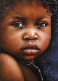 Niño de África 73 Óleo sobre lienzo 25 x 35 cm 2013 Dora Alis